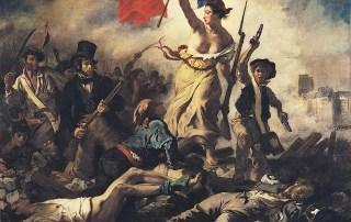 """""""La Libertad guiando al pueblo"""" de Delacroix"""