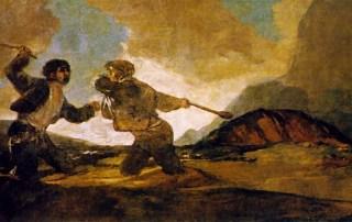 Garrotazos, cuadro de Goya