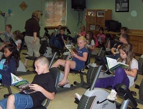 Bici-pupitres contra el déficit de atención en clase